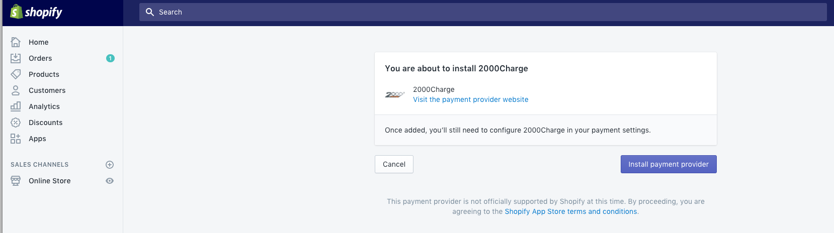 Shopify Local Payments Integration
